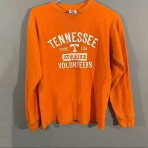 Distressed Tennessee Vols NCAA Waffle Long Sleeve